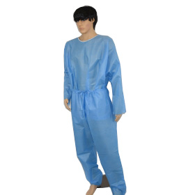high quality hospital two pieces disposable sms scrub suits and patient gown