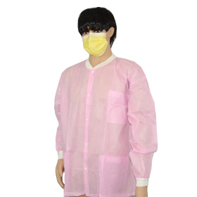 China disposable children lab coat,disposable pink kids lab clothes ,wholesaler non woven lab coats