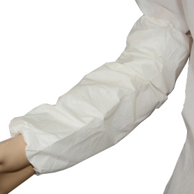 breathable waterproof sleeve cover, white microporous films sleeve cover, disposable arm sleeve covers